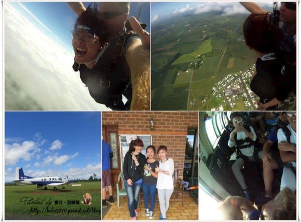 【澳洲】凱恩斯 SKY DIVING。14000英呎高空跳傘,享受在雲上飛行的快感!