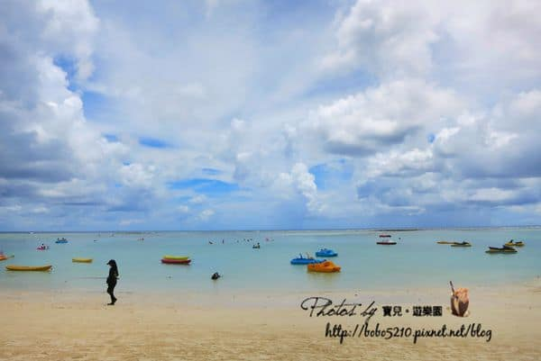 【2014 Guam】關島旅遊景點。Tumon Beach 杜夢灣走路就可以到的漂亮海灘!