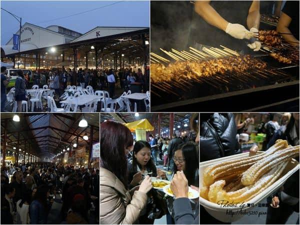 【2014澳洲。Melbourne】Day2-3墨爾本也有夜市!維多利亞市場(Queen Victoria Market)的Night Market逛街去。