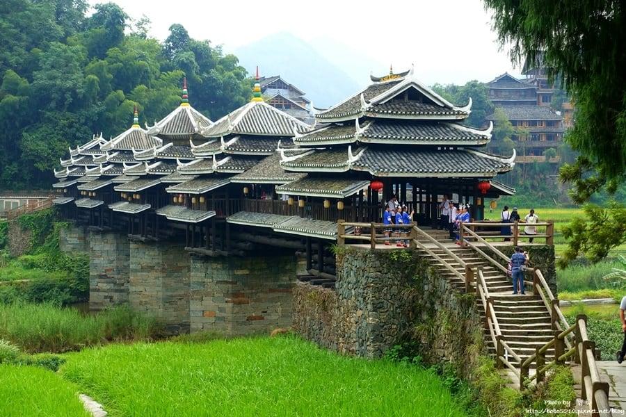 【中國廣西】三江程陽八寨。風雨橋、鼓樓、吊腳樓,侗族歷史的印記與流轉。
