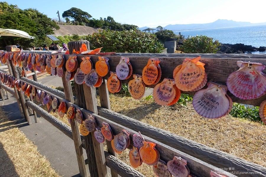 【鹿兒島景點】番所鼻自然公園。遠眺九州富士山,敲響幸福的海馬吉鐘。